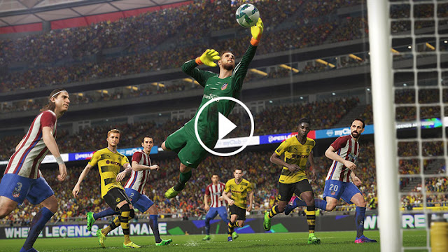 The most beautiful goals and skills PES 2018 from Playstation 4