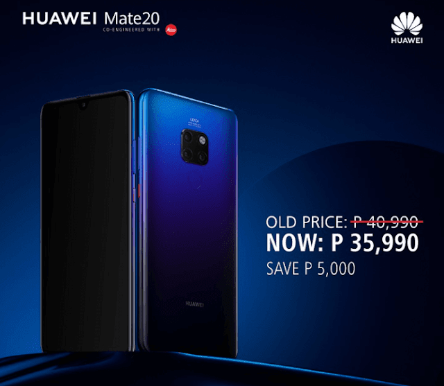 Huawei Mate 20 gets a price cut, now priced at PHP 35,990!