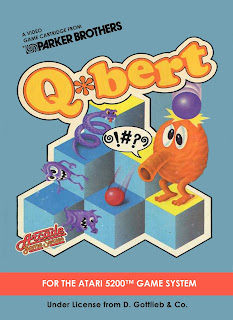 Q*Bert+arcade+game+portable+art+flyer