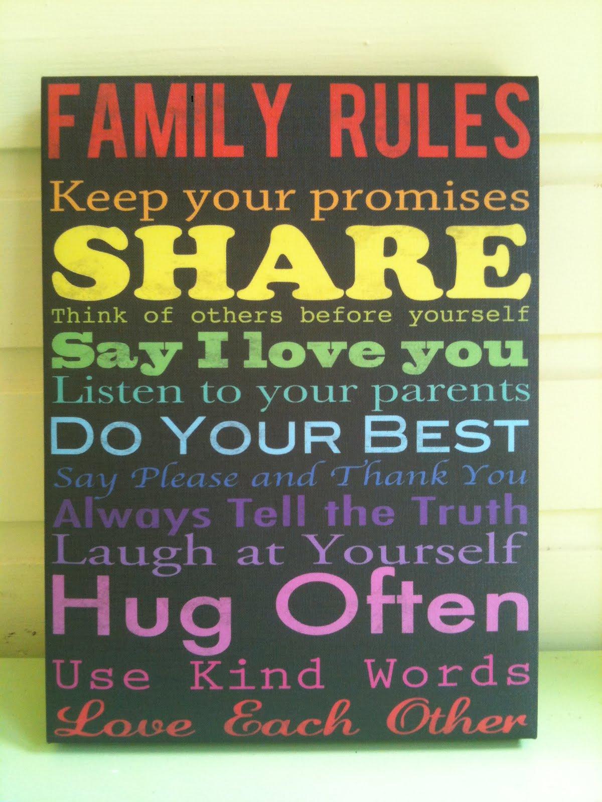 821 Johnson Avenue Family Rules
