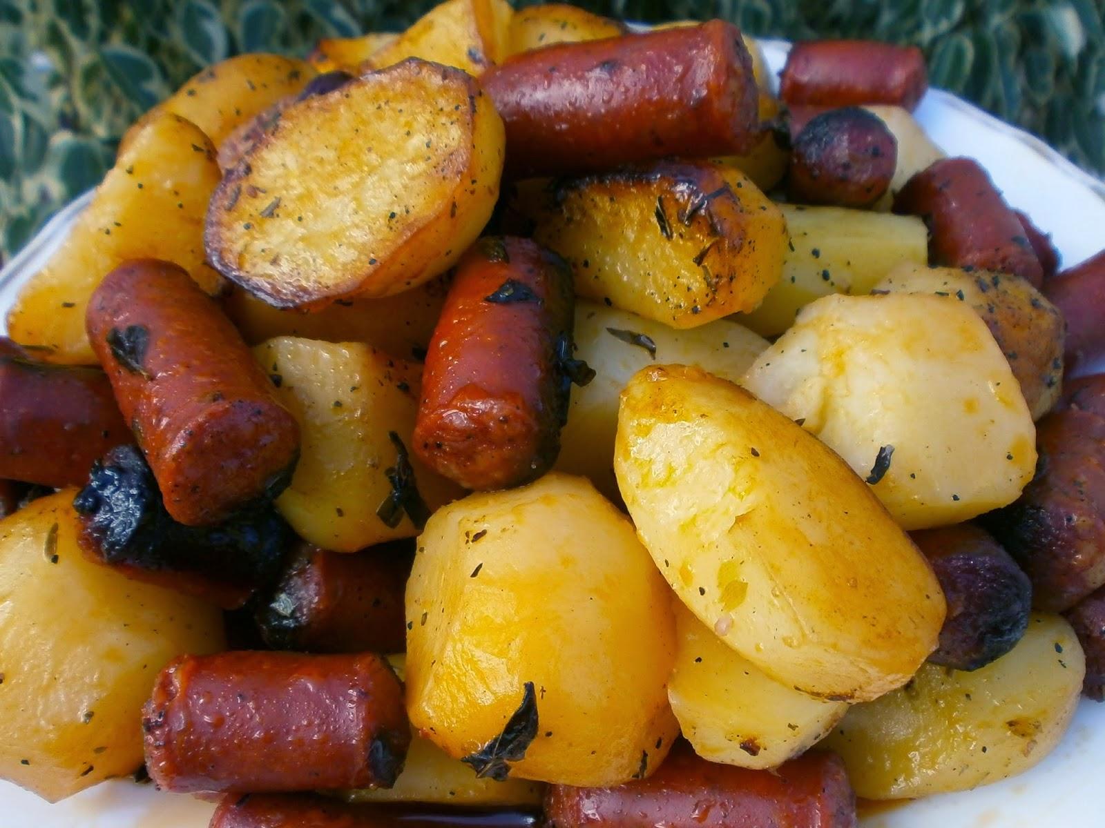 patatas y chistorras al horno en la olla orbegozo hpe6075