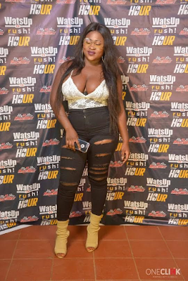 Ghanian female singer, Sista Afia steps out braless to an event (Photos)