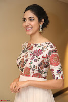 Ritu Varma smiling face Cream Anarkali dress at launch of OPPO New Selfie Camera F3 ~  Exclusive 098.JPG