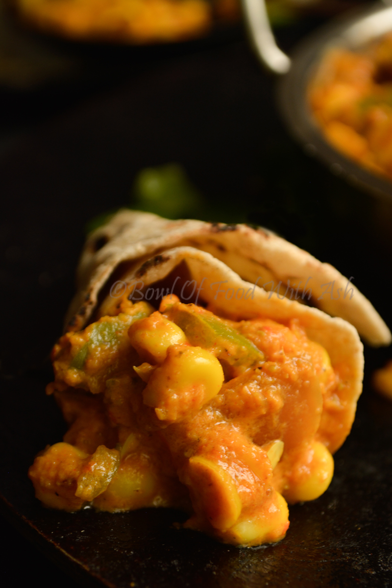 Corn Capsicum Masala Recipe | How to make Corn Bell Pepper Gravy