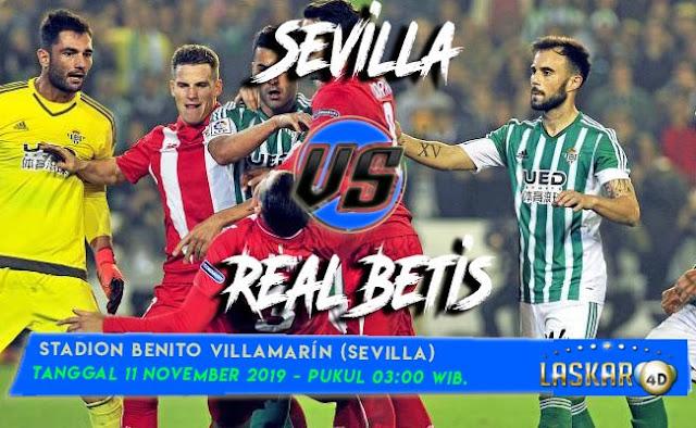 Prediksi Pertandingan Bola Skor Real Betis Vs Sevilla 11 November 2019