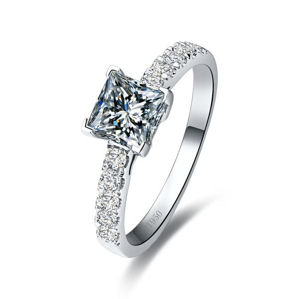 Cheap Princess Cut Wedding Rings