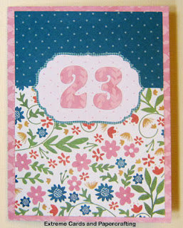 23rd birthday card front