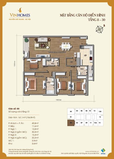 Sơ đồ thiết kế chung cư 56 Nguyễn Chí Thanh