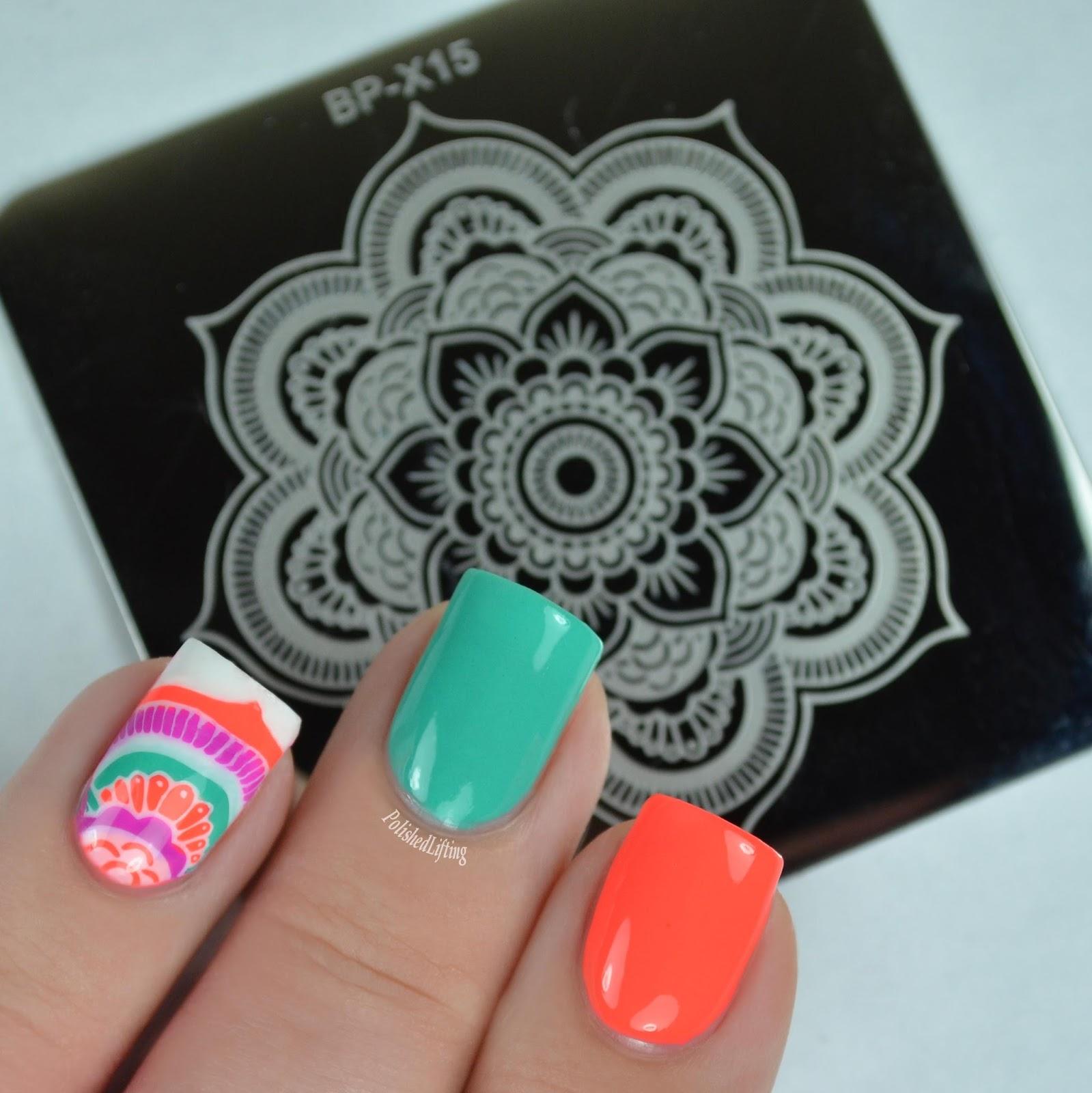 Polished Lifting: Born Pretty Mandala Nail Art Featuring Bliss Polish