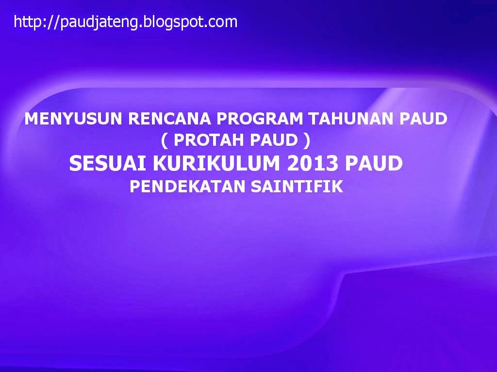 Menyusun Program Tahunan PROTAH PAUD Kurikulum 2013