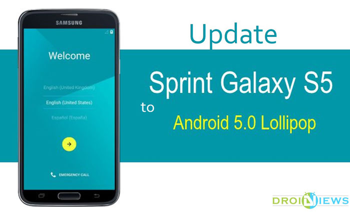 Update Sprint Galaxy S5 SM G900P to Official Android 5 0