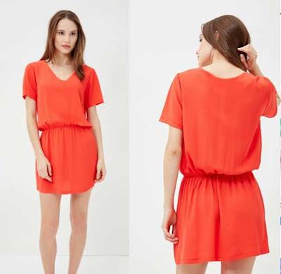 vestido de color naranja