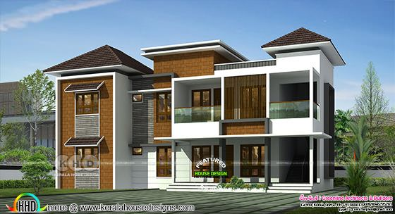6 bedroom luxurious house 3d rendering in Modern style