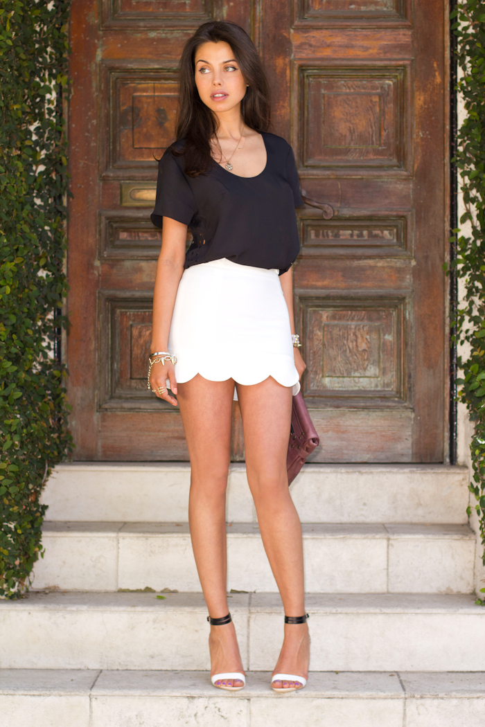 Opinion, Short white mini skirt are