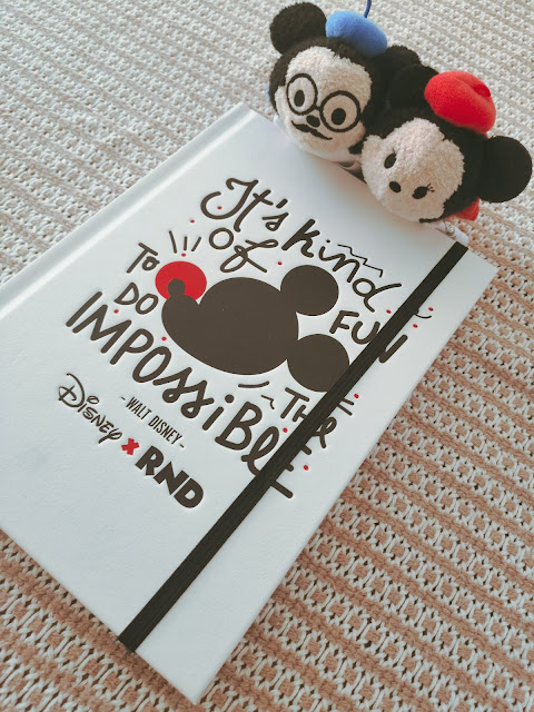 Disney notebook with Paris themed Mickey and Minnie Mouse tsum tsums