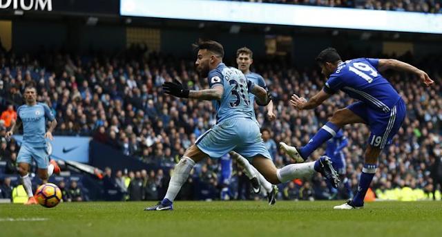 Hasil Pertandingan Manchester City 1-3 Chelsea 3 Des 2016