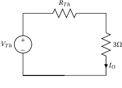The Thevenin equivalent circuit