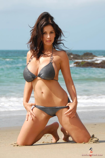 Denise-Milani-Beach-Silver-bikini-hottest-photoshoot-pics-19