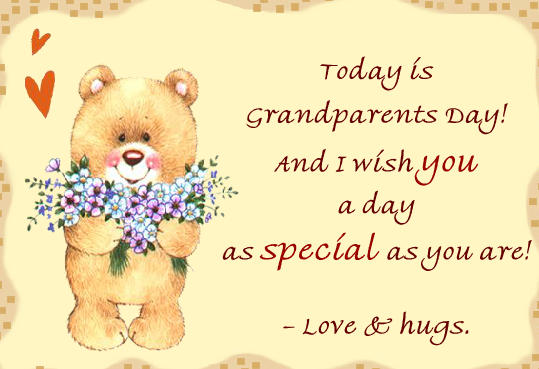 grandparents day cards wordings