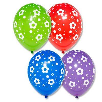 воздушній шарик с цветочуами