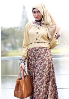 Model Baju Gamis Untuk Kerja untuk Wanita Muslim