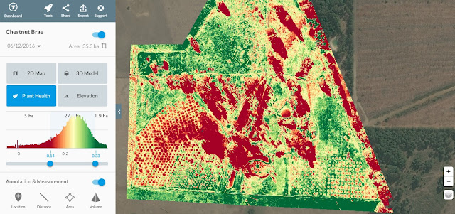 Chestnut Brae Drone scan Small farm planning map using Drone Deploy - Image 13