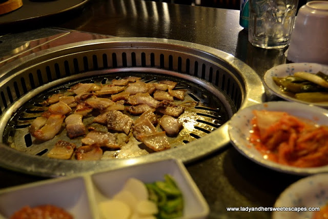 Hyu Korean Restaurant's Korean BBQ grill