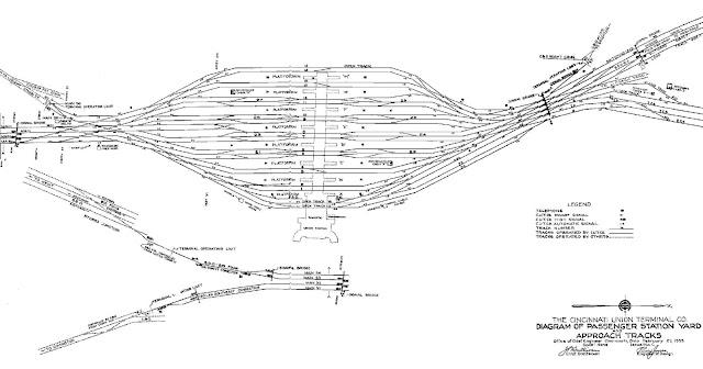 Crooked River Rails: Scale track plan of Cincinnati Union