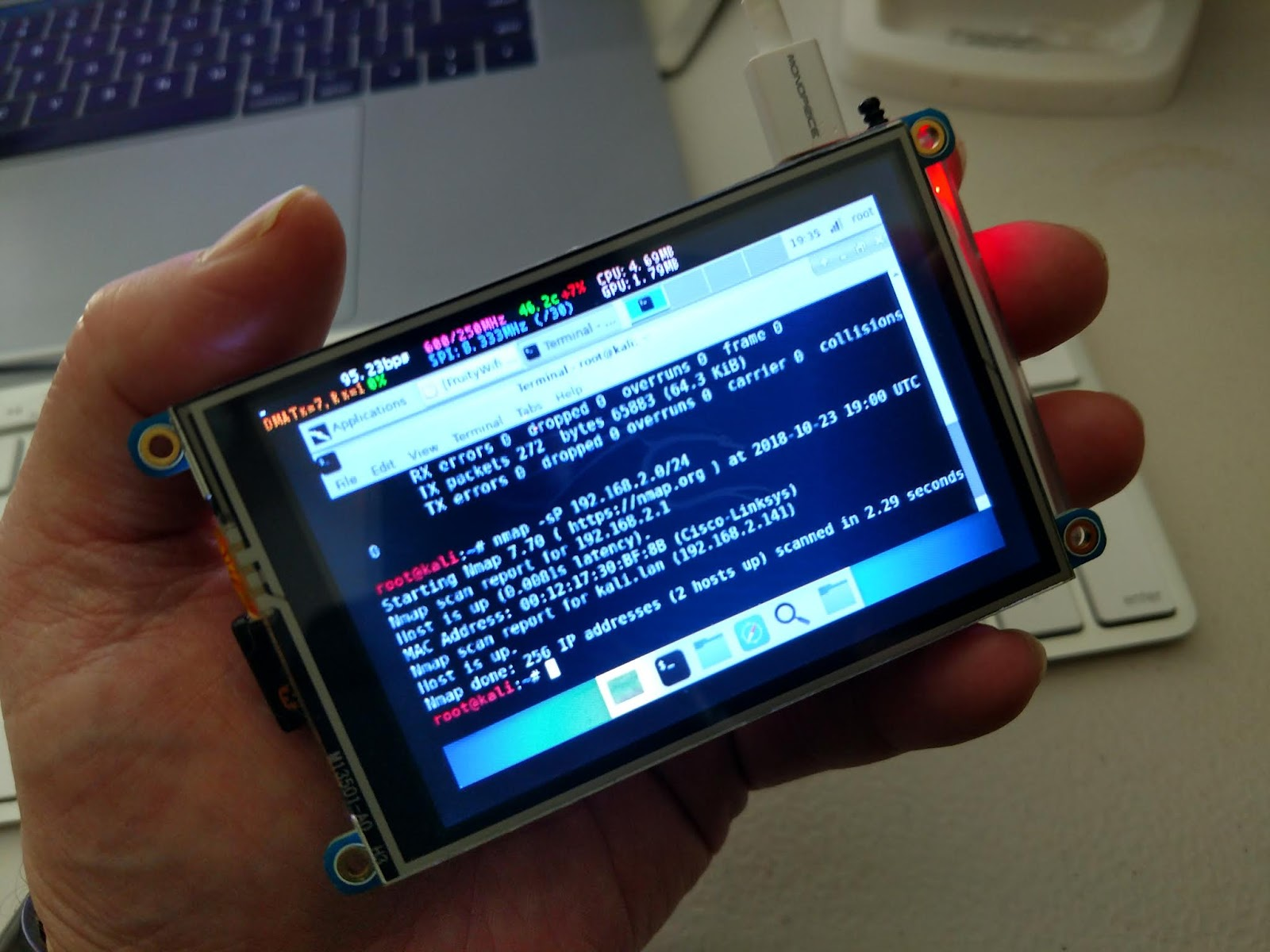 HiR Information Report: Small TFT displays for Kali on the Raspberry Pi