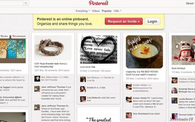 Main Pinterest page