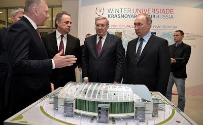 Vladimir Putin in Krasnoyarsk.