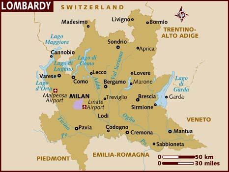 Cartina Lombardia Con Citta.Italia Mappa Della Citta Provincia Mappa Della Lombardia Italia