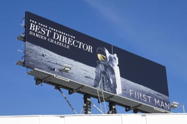 First Man Best Director FYC billboard