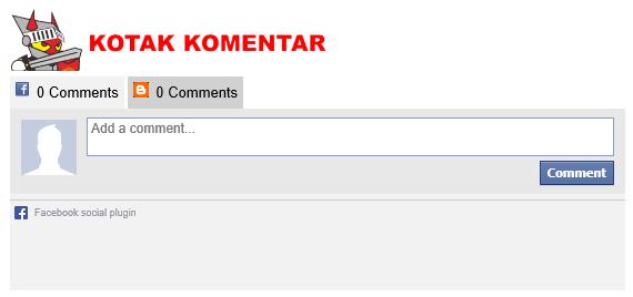 Kotak komentar berdampingan di blog