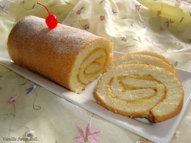images for Vanilla Swiss Roll Recipe / Swiss Roll Recipe
