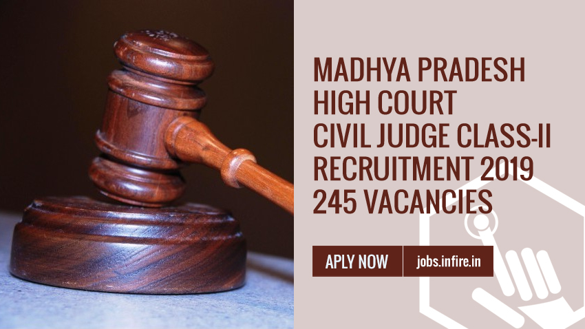 Madhya Pradesh High Court Recruitment 2019 - 245 Vacancies Apply Online