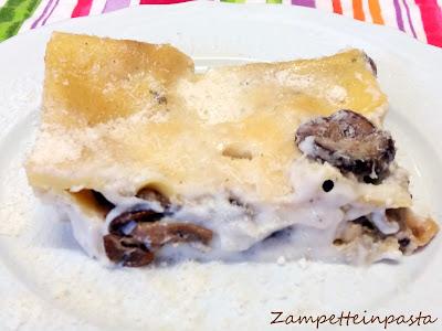Lasagne con i funghi