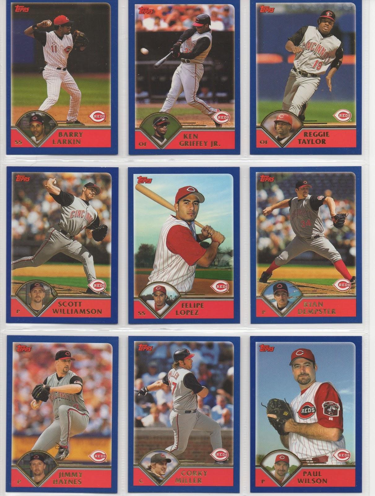 Cincinnati Reds Baseball Card Collector 2003 Topps