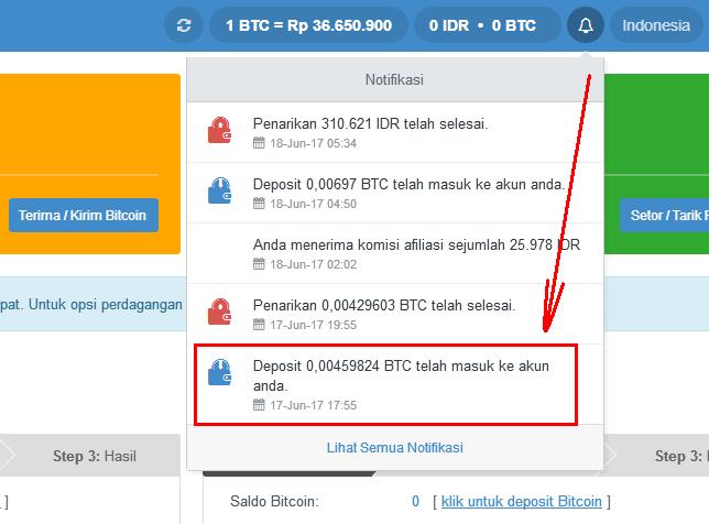 Withdraw profit dari Hasing24 mendarat diwallet bitcoin