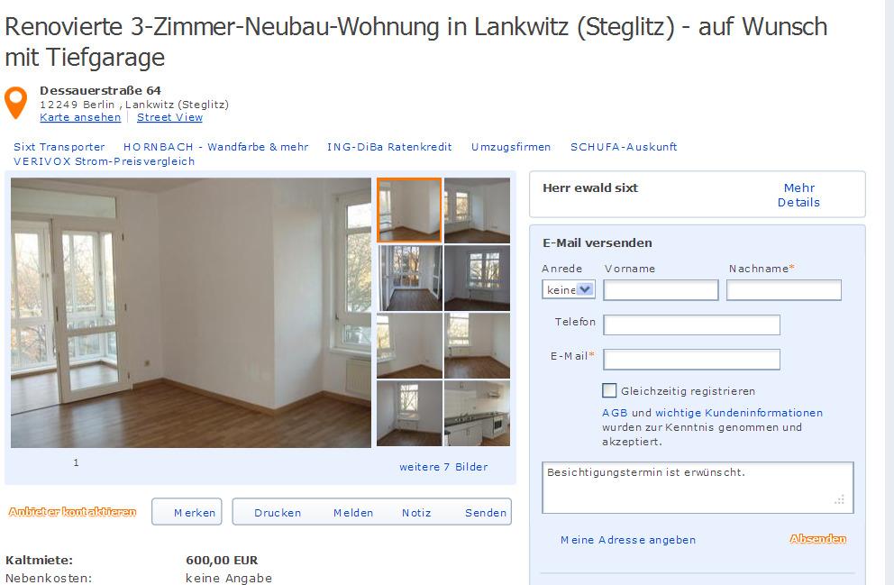 Wohnung Steglitz