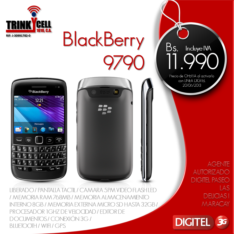 Trinkycell 1010 c a for Telefono bb