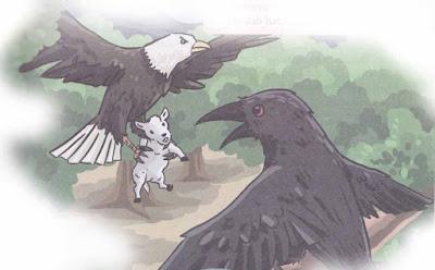 burung elang dan burung gagak