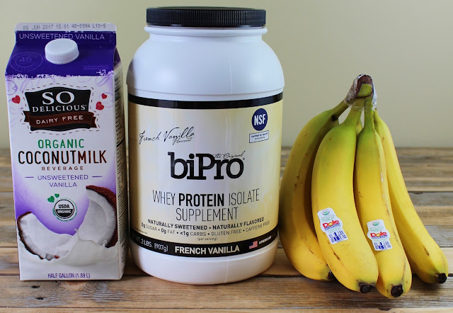 Banana Cream Pie Protein Smoothie Ingredients
