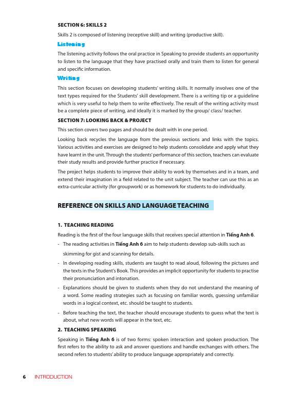 Trang 5 sach Sách Giáo Viên Tiếng Anh 6 Tập 1