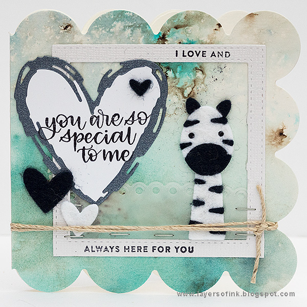 Layers of ink - Scalloped Zebra Cards Tutorial by Anna-Karin Evaldsson