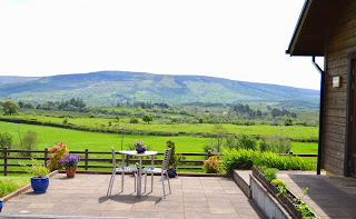 view of mountain from patio at Tawnylust Lodge Leitrim