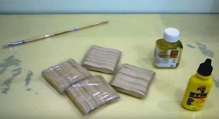Kerajinan Tangan dari Stick Es Krim Membuat Tempat Tisu