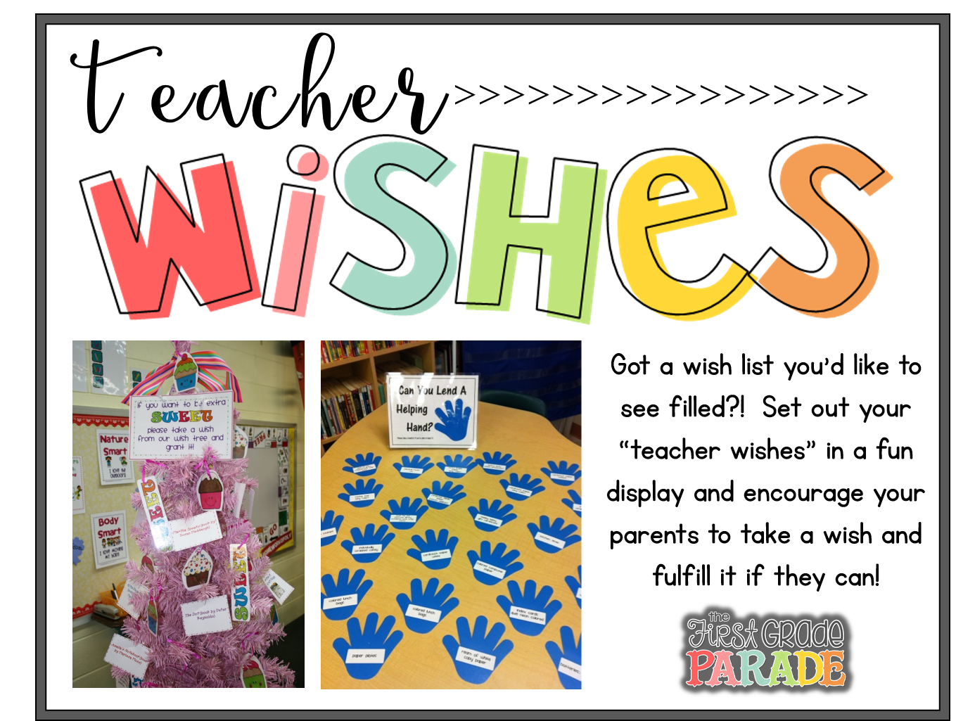 Helping Hands Via Head Over Heels For Teacher With A Link To Free Wish List Labels