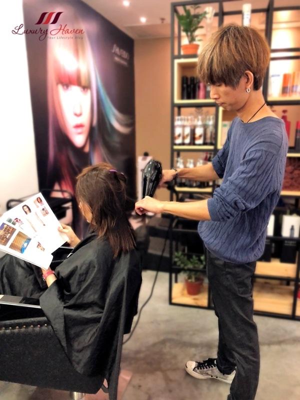 centrepoint christmas promotion hair salon shiseido aqua treatments