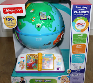 my mummy spam, mymummyspam, christmas, christmas gifts, christmas gift ideas, gift ideas, christmas for toddlers, toddlers, fisher price, laugh and learn, globe, greetings globe, toys, toddler toys, fisher price toys, must have toys,